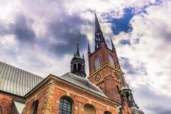 Stockholm - April 07, 2017: Kyrka av Riddarholmen i Stockholm Royaltyfri Fotografi
