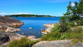 Stockholm-Archipel Stockfoto
