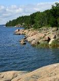 Stockholm archipelago. White clouds over the islands in Stockholm archipelago Royalty Free Stock Photos