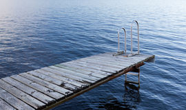 Stockholm archipelago - empty bathing platform Stock Photos
