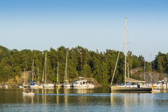Stockholm archipelago: natural harbour Royalty Free Stock Images