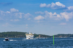 Stockholm archipelago: Sea traffic Royalty Free Stock Image