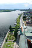 Stockholm. Areal view to the channel Stock Photo