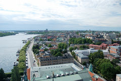 Stockholm. Areal view to the city Stock Images