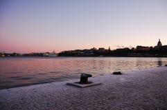 Stockholm au coucher du soleil Images stock