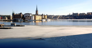 Stockholm auf frühem Frühling Stockfotografie