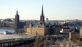 Stockholm auf frühem Frühling Lizenzfreie Stockfotografie