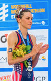 STOCKHOLM - AUG, 24: Gold medalist Gwen Jorgensen at the Womens Stock Images