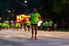 STOCKHOLM - AUG, 17: Just before the start of the Midnight Run ( Royalty Free Stock Photo