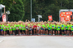 STOCKHOLM - AUG, 17: Just before the start of one of many groups Stock Image