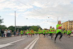 STOCKHOLM - AUG, 17: Just after the start in one of many groups Stock Photography