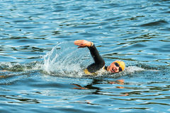 STOCKHOLM - AUG, 24: Lisa Norden warming up in the cold water be Stock Photography