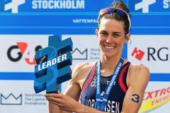 STOCKHOLM - AUG, 24: The overall leader Gwen Jorgensen at the Wo Stock Photo
