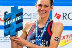 STOCKHOLM - AUG, 24: The overall leader Gwen Jorgensen at the Wo Stock Images