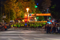 STOCKHOLM - AUG, 17: Shortly after the start of the Midnight Run Stock Photography