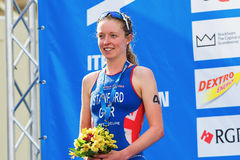 STOCKHOLM - AUG, 24: Silver medalist Non Stanford before the nat Royalty Free Stock Images