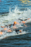 STOCKHOLM - AUG, 24: After the start with swimming of the Womens Stock Image