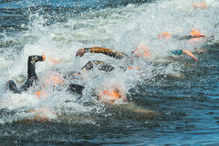 STOCKHOLM - AUG, 24: After the start with swimming of the Womens Stock Photography