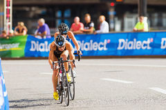 STOCKHOLM - AUG, 24: Vanessa Raw slipstreaming after Andrea Hewi Royalty Free Stock Photo