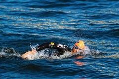 STOCKHOLM - AUG, 25: Warm up swimming by Aurelien Raphael (FRA) Stock Photo