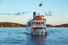 STOCKHOLM August 12. Passenger boat in the Stockholm archipelag Royalty Free Stock Photography