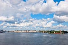 Stockholm av den gammala staden. Sverige. Arkivfoto