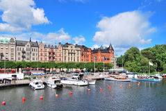 Stockholm. Beautiful quay in Ostermalm Royalty Free Stock Images