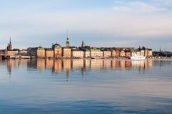Stockholm bij de ochtend Royalty-vrije Stock Foto's