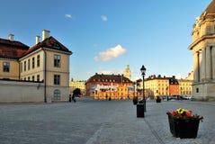 Stockholm bij zonsondergang royalty-vrije stock afbeeldingen