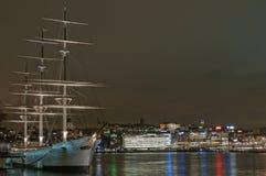 Stockholm bis zum Nacht Lizenzfreies Stockbild