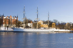Stockholm boat Royalty Free Stock Photos