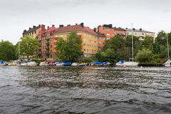 Stockholm by boat Royalty Free Stock Photo