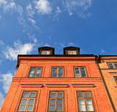 Stockholm building facade stock photography