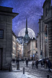 Stockholm is the capital Sweden. Astrophotography. Night sky with stars. Stockholm is the capital and largest city in Sweden Royalty Free Stock Image