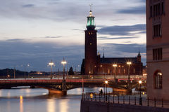 Stockholm, captial von Skandinavien Lizenzfreies Stockbild