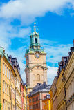 Stockholm Cathedral in the city. (Vertical View Stock Image