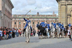 Stockholm. Changing of the guard ceremony Royalty Free Stock Images