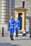 Stockholm. Changing of guard near a Royal Palace. Royalty Free Stock Image