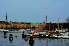 Stockholm City Center Sea View Stock Photos