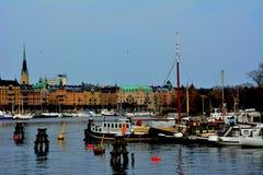 Stockholm City Center Sea View Stock Photos
