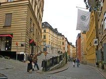 Stockholm city center street scene.Sweeden Royalty Free Stock Photos