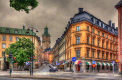 Stockholm city center in Sweden Stock Photos