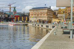 Stockholm city center royalty free stock images