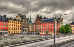 Stockholm city center view - Sweden Royalty Free Stock Image