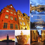 Stockholm city Royalty Free Stock Photos
