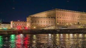 Stockholm city at dusk stock video