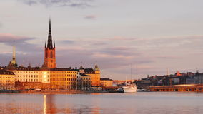 Stockholm city at dusk stock video footage