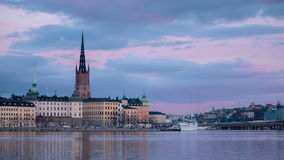 Stockholm city at dusk stock footage
