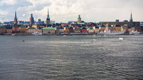 Stockholm city Galma Stan, Old Town skyline Royalty Free Stock Images
