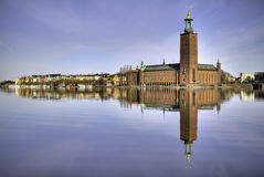 Stockholm City-hall. Stockholm city-hall in morninglight stock photos